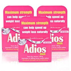 Adios Max Herbal Slimming Tablets Triple Pack